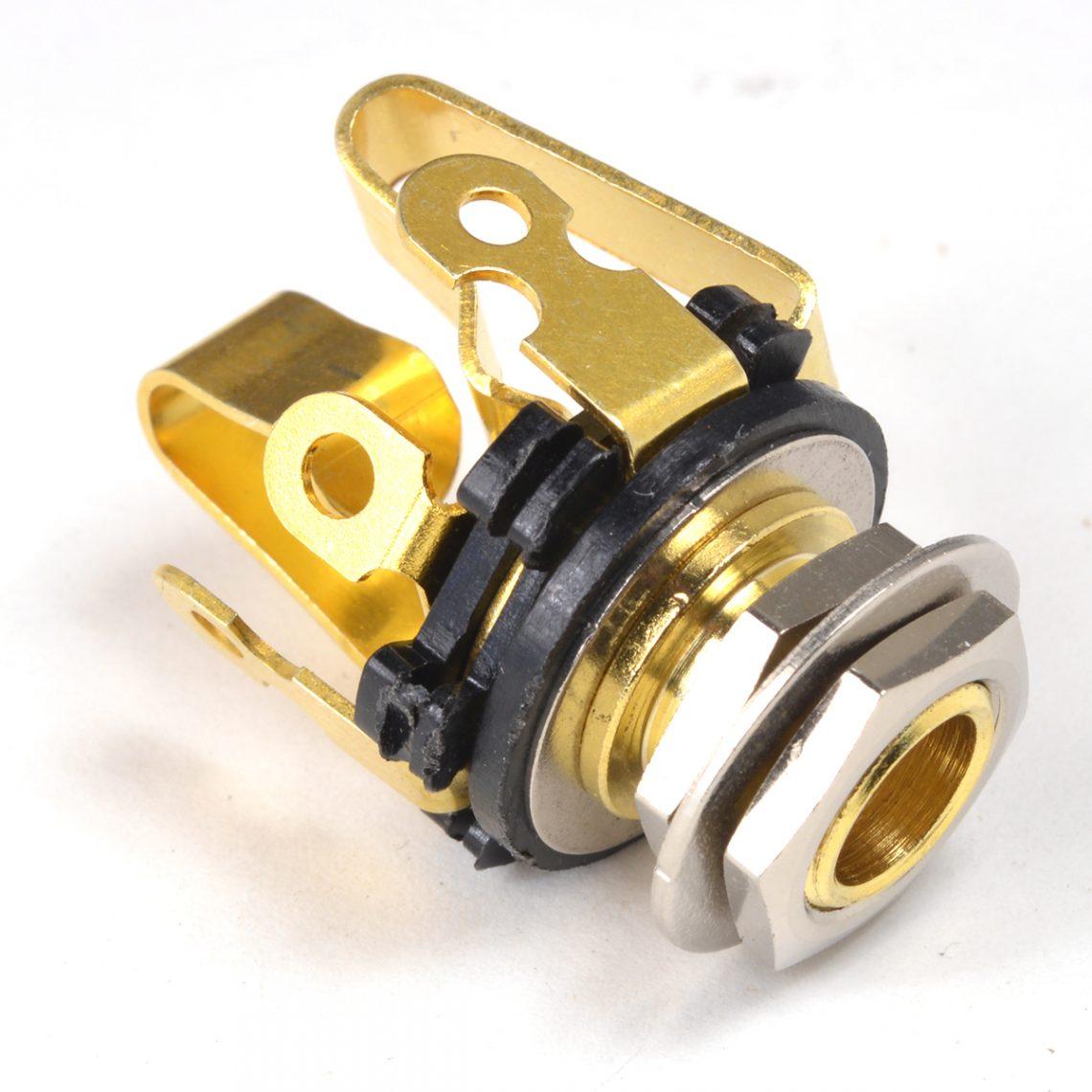 Stereo Jack Socket Gold
