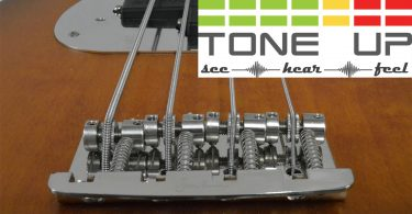Tone Up 3D Bridge on a bass